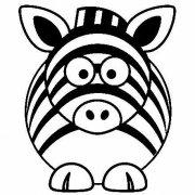 如何画卡通斑马:动物简笔画