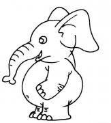 如何画卡通小象的简笔画:动物简笔画