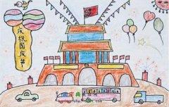 北京天安门广场简笔画图片