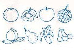 幼儿小班水果简笔画图片大全:多种水果