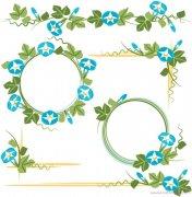 儿童花卉植物边框手抄报背景图片