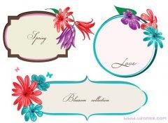 手绘彩色花朵边框手抄报背景图案