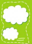 可爱的云朵背景手抄报边框模板图片