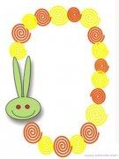 兔子圈圈棒棒糖边框背景手抄报图案模板