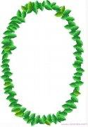 环形绿叶创意边框手抄报模板图片