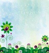 可爱的花纹花朵边框手抄报背景图片