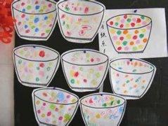 绘画元宵节汤圆儿童画作品图片欣赏