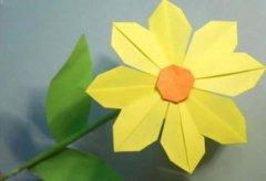 黄色小花朵的折纸方法 花朵折纸大全图解