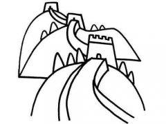 长城怎么画 美丽的北京长城简笔画图片大全