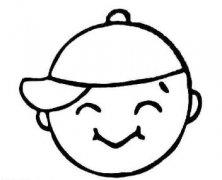 卡通小男孩微笑表情简笔画图片大全素描
