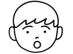 儿童简笔画卡通惊讶小男孩的画法图片大全