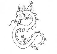 龙怎么画中国龙简笔画的画法图片