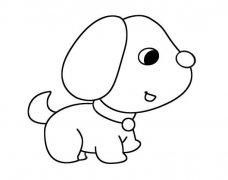 可爱小狗狗怎么画小狗简笔画图片素描