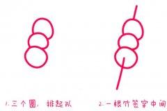 冰糖葫芦怎么画糖葫芦的画法图片