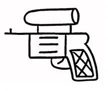 卡通儿童手枪的画法手枪简笔画图片