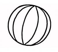 简单小皮球的画法皮球简笔画图片步骤