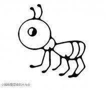 可爱蚂蚁怎么画卡通蚂蚁简笔画图片素描