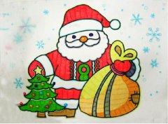 圣诞老人怎么画 圣诞老人儿童画图片