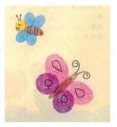 蜜蜂蝴蝶花朵儿童手指画步骤