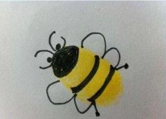 小蜜蜂怎么画 小蜜蜂的手指画的画法
