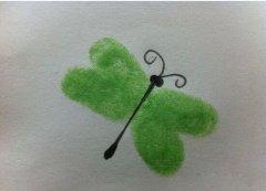 蜻蜓手印画怎么画 蜻蜓手指画的画法