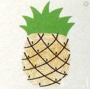 菠萝的手指画怎么画 水果菠萝的画法