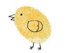 小鸡的手印画怎么画 儿童手指画小鸡的画法