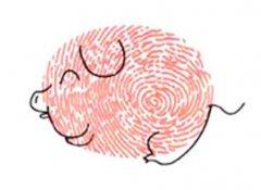 小猪怎么画 可爱的小猪手指画步骤教程