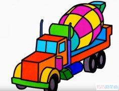搅拌车怎么画 泥头车的简笔画视频教程