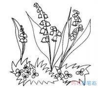 铃兰花怎么画步骤 铃兰花的画法简笔画图片