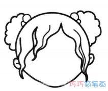 小女孩头部轮廓怎么画 女孩头像的画法图片