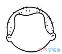 小男孩头像怎么画 头部轮廓的画法图片
