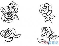 玫瑰花怎么画步骤 漂亮玫瑰花的画法图片大全