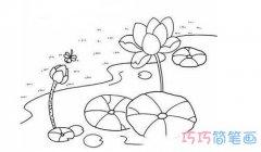 怎么画荷花图片 漂亮莲花的简笔画教程