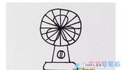 怎么画电风扇 电风扇的简笔画图片