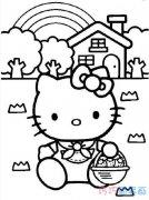 采摘草莓的kitty猫怎么画 凯蒂猫的画法教程