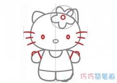 怎么画简单的凯蒂猫 Hello Kitty的简笔画图片
