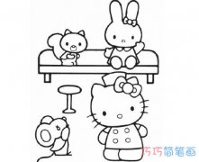 可爱的凯蒂猫怎么画 Hello Kitty的画法图片