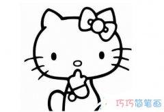 怎么画凯蒂猫 凯蒂猫的简笔画图片