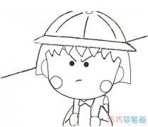 生气的小丸子怎么画 樱桃小丸子的简笔画图片