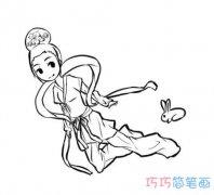 嫦娥玉兔的简笔画图片 儿童画怎么画玉兔图片