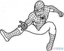 怎么画蜘蛛侠图片 卡通蜘蛛侠的简笔画教程
