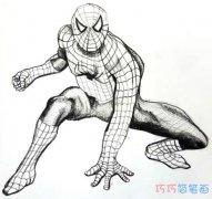 怎么画蜘蛛侠素描图 卡通蜘蛛侠简笔画图片