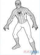 超级英雄蜘蛛侠怎么画 蜘蛛侠简笔画图片