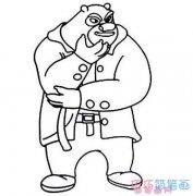 怎么画足智多谋的熊大 熊大简笔画图片