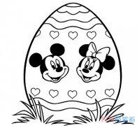 卡通米奇和米妮头像怎么画_米老鼠简笔画图片