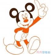 涂颜色米奇老鼠怎么画_卡通米老鼠简笔画图片