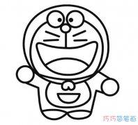 可爱哆啦a梦怎么画_卡通哆啦a梦简笔画图片