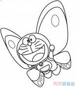 带翅膀的叮当猫怎么画_卡通机器猫简笔画图片