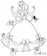 漂亮的贝儿公主怎么画_贝儿公主简笔画图片